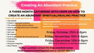 Creating an Abundant Practice with Hope @ Hope Interfaith Center